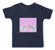 Bichon Frise dogs with winter coats Kids Tee