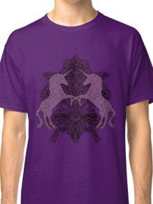 Fancy Aubergine Unicorns Classic T-Shirt
