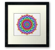 Marker Mandala Framed Print