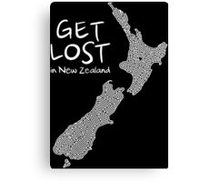 Get Lost in New Zealand Canvas Print