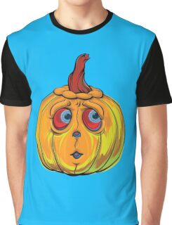 Halloween Pumpkin Cartoon Vector Graphic T-Shirt