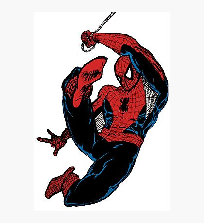 Spiderman-Solid Colour Photographic Print