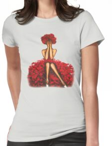 Rose girl Womens Fitted T-Shirt