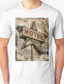 Vintage Grunge Star Motel Sign T-Shirt