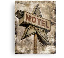 Vintage Grunge Star Motel Sign Metal Print