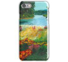 Flower Landscape Palette Knife Painting iPhone Case/Skin