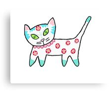 Hot Pink Cool Kitty Canvas Print