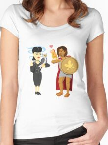 """Owls (""""Is it artificial?"""") Women's Fitted Scoop T-Shirt"""