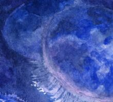 Watercolor Moon Jellyfish at the Seattle Aquarium Sticker