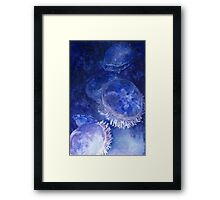 Watercolor Moon Jellyfish at the Seattle Aquarium Framed Print