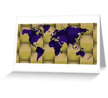 3d world map composition 5 Greeting Card