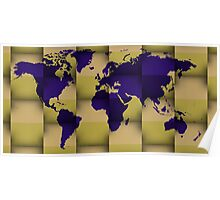 3d world map composition 5 Poster