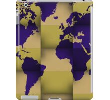 3d world map composition 5 iPad Case/Skin