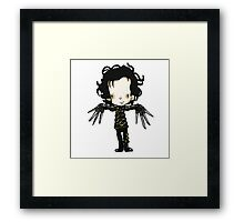 Edward with the hands of Scissors Framed Print