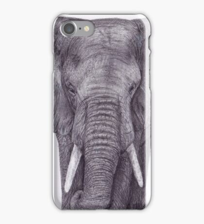Elephant Charcoal Drawing iPhone Case/Skin