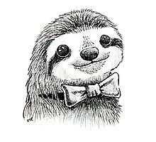 Dapper Sloth by Lisa Marie Robinson
