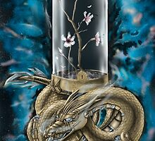 Dragon Glass Sakura Digital Color by Jonathon Fowler