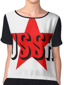 USSR STAR Chiffon Top