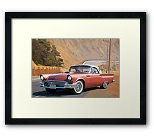 1957 Ford Thunderbird 'Porthole Top' Framed Print