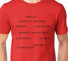 Manchester United red white and black 80's superteam Unisex T-Shirt