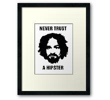 Charlie Manson Never Trust A Hipster Framed Print