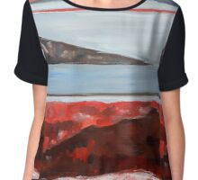Abstract Lake Chiffon Top