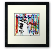 Rainbow Rain Framed Print