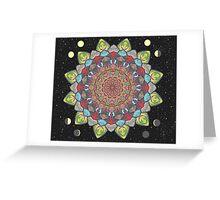 SUN MOON MANDALA Greeting Card