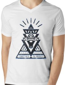 Connect With The Universe 2 - Typography and Geometry Mens V-Neck T-Shirt