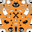The Spookiest Season - Orange Print by Rebekie Bennington