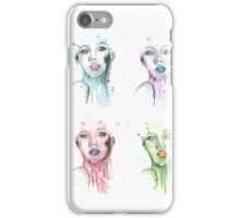 Colorful Woman Mixed Media Painting iPhone Case/Skin