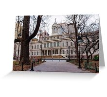 The New York City Hall Greeting Card