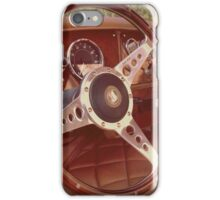 Classic British Sports car interior iPhone Case/Skin