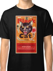 Vintage Fireworks Label:  Black Cat Firecrackers Classic T-Shirt