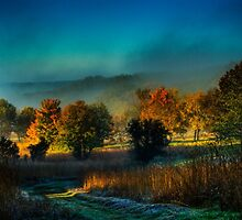 Castle Rock Misty Morning by Roger Passman