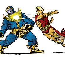 Thanos vs Adam Warlock by gamac74