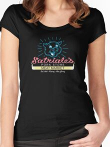 Satriale's - Blue Piggy Logo Women's Fitted Scoop T-Shirt