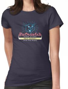 Satriale's - Blue Piggy Logo Womens Fitted T-Shirt