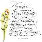 All things new inspirational verse by Melissa Goza