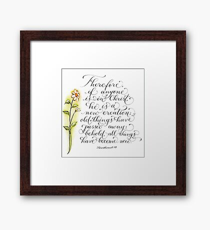 All things new inspirational verse Framed Print