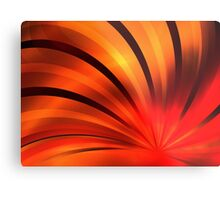 Ruby Orange Petals Metal Print