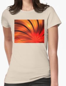 Ruby Orange Petals Womens Fitted T-Shirt