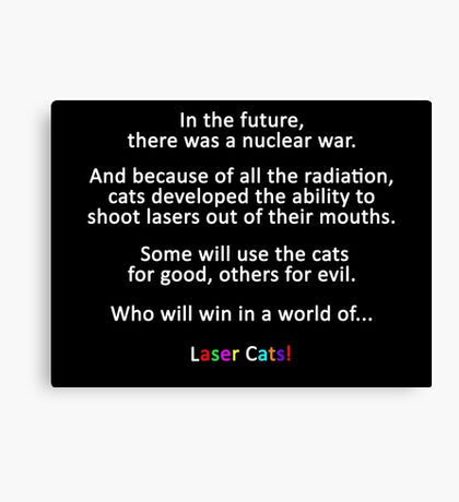 In The Future... Laser Cats Title Card Canvas Print