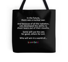 In The Future... Laser Cats Title Card Tote Bag