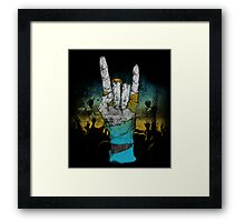 Zombie Heavy Metal. Framed Print