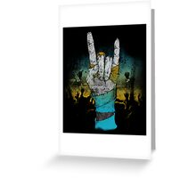 Zombie Heavy Metal. Greeting Card