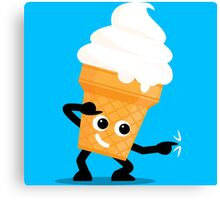 Character Fusion - Just Ice Cream Canvas Print