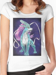 Legendary Beast - Suicune Women's Fitted Scoop T-Shirt