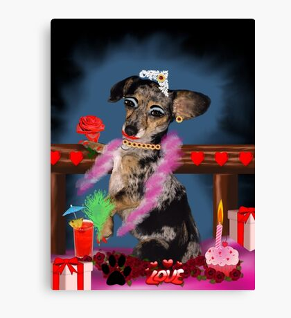 The Floozie Puppy Canvas Print