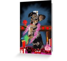 The Floozie Puppy Greeting Card